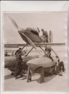 SCHNEIDER TROPHY BRITAIN'S  TEAM CALSHOT AGAINST FRANCE AND ITALY SUPERMARINE SB6  25*20CM Fonds Victor FORBIN 1864-1947 - Aviation