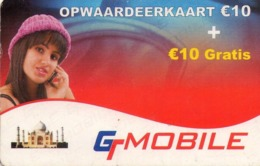 HOLANDA (PREPAGO). GT Mobile Opwaardeerkaart. 01.10. 25G. Code Start With 3771002. NL-GTM-REF-0003F. (034) - Nederland