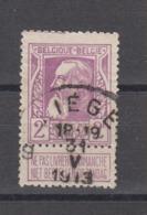 COB 80 Oblitération Centrale LIEGE 9 - 1905 Breiter Bart