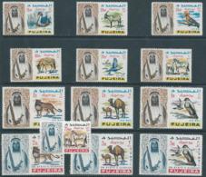EMIRATI ARABI UNITI,United Arab Republic,Fujeira 1965 Airmail-Shaikh Mohamed Bin Hamad Al Sharqi And Fauna,MNH - Fudschaira