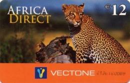 HOLANDA. FAUNA. LEOPARDO - LEOPARD. Africa Direct. 02.07. NL-PRE-VEC-0040. (019) - Tarjetas Telefónicas