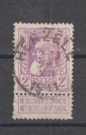 COB 80 Oblitération Centrale HERZELE - 1905 Breiter Bart
