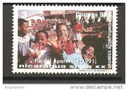 NICARAGUA - 1995 Fine Dell' Apartheid Nuovo** MNH - Storia