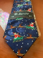 NEW Novelty Necktie Bellissima Christmas - Vintage Clothes & Linen