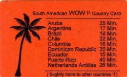 HOLANDA (PREPAGO). South American WOW !! Countrie Card. 25G. 07.99. PRE-NL-1744. (030) - Nederland