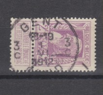 COB 80 Oblitération Centrale Bilingue GENT GAND 3C - 1905 Breiter Bart