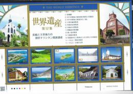 JAPAN, 2019, MNH,ARCHITECTURE, CHURCHES IN JAPAN, SHEETLET - Kirchen U. Kathedralen