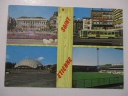 CPA CP CPSM 42 LOIRE SAINT-ETIENNE MULTIVUES / HOTEL DE VILLE / PLACE DU PEUPLE / STADE GEOFFROY GUICHARD ED BAURE TBE - Saint Etienne