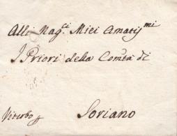 PRE427 - Lettera Con Testo Del 21 Giugno 1794 Da Roma A Viterbo Per Soriano - Firma Maria Anna Cybo Madre Di C. Albani - Italy