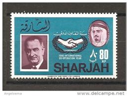 SHARJAH - 1966 JOHNSON Presidente Usa Nuovo** MNH - Celebrità