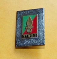 LEGION :3° Régiment Etranger D'Infanterie, Plaque Argentée, Dos Guilloché Plat ,  FABRICANT DRAGO PARIS NICE 43 RUE OLIV - Heer