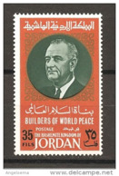 GIORDANIA - 1967 JOHNSON Presidente Usa Nuovo** MNH - Celebrità