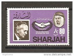 SHARJAH - 1966 H. WILSON Primo Ministro Inglese Nuovo** MNH - Celebrità