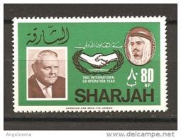 SHARJAH - 1966 L. ERHARD Cancelliere Tedesco Nuovo** MNH - Celebrità