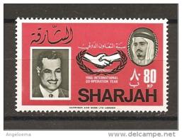 SHARJAH - 1966 NASSER Presidente Egitto Nuovo** MNH - Celebrità