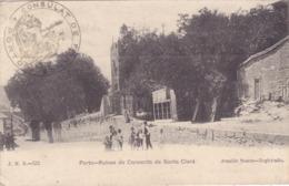 CPA PORTUGAL - PORTO - Ruines Du Couvent De Santa Clara En 1915 - Cachet Du Consulat De France - Porto