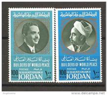 GIORDANIA - 1967 HUSSEIN Presidente Giordania 2v. Nuovi** MNH - Celebrità