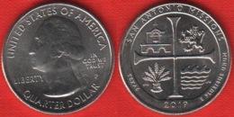 "USA Quarter (1/4 Dollar) 2019 P Mint ""San Antonio Missions, Texas"" UNC - Émissions Fédérales"