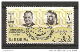 RAS AL KHAIMA - 1965 JOHNSON Presidente Usa Nuovo** MNH - Celebrità
