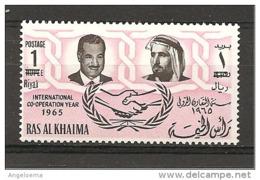 RAS AL KHAIMA - 1965 NASSER Presidente Egitto Nuovo** MNH - Altri