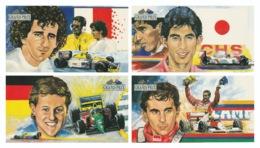 AUSTRALIA 1993 Australian Grand Prix/Dinosaurs: Set Of 4 Postcards STAMPED & CANCELLED - Automobilismo