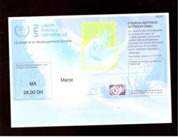 Maroc. Coupon-Réponse International. Valeur D'envoi National Prioritaire Ou Par Avion. 2008-2009. - Marruecos (1956-...)