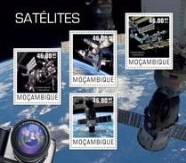 MOZAMBIQUE 2014 SHEET SATELLITES ESPACE SPACE ESPACIO Moz14428a - Mozambico