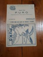1925 CARTOLINA PUBBLICITA' OLIO RAFFINERIA P.U.R.O. - ONEGLIA - Pubblicitari