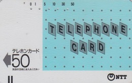 Télécarte Ancienne Japon / NTT 110-007 - 50 U SANS ENCOCHE NO NOTCH - Japan Early National Front Bar Phonecard - Japan