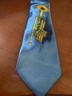 Novelty Beautiful New Necktie W/trumpet - Vintage Clothes & Linen