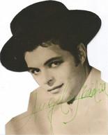 BALLET Spanish FLAMENCO DANCER Danseur ANGEL De MADRID ? - Autograph Dedicacee 1950' Cropped Photo Gay Int. - Fotos Dedicadas