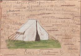 Wooden Tent Postcard , 1909 - Fancy Cards