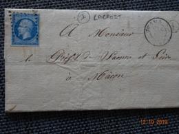 """TOURNUS : Lettre De 1863 : GC 3994  + CàD Type 15  + Boite Rurale I  """" Lacrost """"  ( Identifiée ) - 1849-1876: Classic Period"""