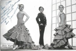 BALLET Spanish FLAMENCO DANCERS Danseuses LAS GRANADINAS - Autograph Dedicacee 1960' Photo 15x10cm By HENRY KEGAHL - Fotos Dedicadas