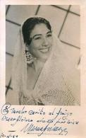 "BALLET Spanish FLAMENCO DANCER Danseuse ""unidentified"" - Autograph Dedicacee 1950' Photo 13x9cm - Fotos Dedicadas"