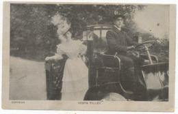 Vesta Tilley, 1910 Postcard To Jinnie Grainger, Priest Lane, Ripon - Artistas