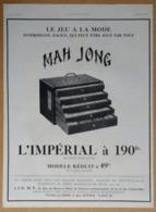 1925 Mah Jong Le Jeu à La Mode L'Impérial - Au Bon Marché Maison A. Boucicaut Paris (Dessin Art-déco) - Publicité - Reclame