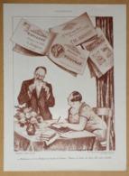 Publicité PTT La Poste Carnets De Timbres Publicitaire D'après Abel Faivre - Reclame