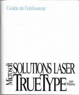 Microsoft Solutions Laser TrueType Pour Windows 3.1 (1992, TBE+) - Autres