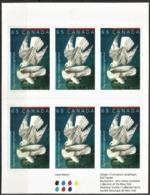2003 Canada Paintings By J. J. Audubon: Gyrfalcon Booklet (Self Adhesive) - Aigles & Rapaces Diurnes