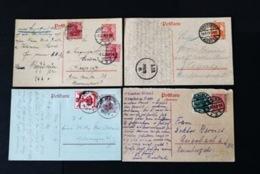40644) DEUTSCHES REICH 4 Ganzsachen Germania - Germany
