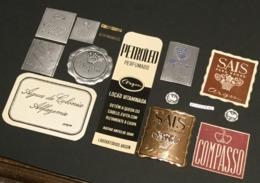 Conjunto De 10 Rotulos De PERFUMARIA Portugal - Set Of 10 Old Vintage DECO Labels Perfume EUROPE - Labels