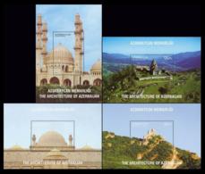 2017Azerbaijan 1265/B190,66/B191,67/B192,68/B193Old Architecture In Azerbaijan - Denkmäler