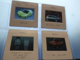 Honda Tokyo Motor Show 1997 Et Humoid Robot P2 Et P3 - Lot De 4 Diapositives - Voitures