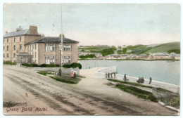 FALMOUTH : GREEN BANK HOTEL / POSTMARK - FALMOUTH (SQUARE CIRCLE) / ADDRESS - LIZARD - Falmouth