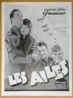 1928 Publicité Les Ailes C'est Un Film Paramount Illustrateur G. Bruyner (Cinéma - Gary Cooper - Clara Bow...) - Reclame