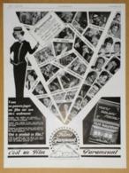 1929 Publicité Paramount Ses Artistes, Ses Metteurs En Scène... Vous Présentent Leurs Meilleurs Voeux - Montre Lip - Reclame