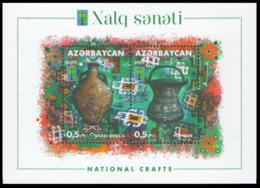 2017Azerbaijan 1361-62B199RCC. National Crafts - Aserbaidschan