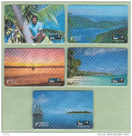 Fiji - 1992 First Issue Set (5) - FIJ-001/5 - Mint - Figi