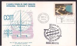 Argentina - 1968 - 3 FDC - IV E Assemblée Plénière Du Comité Consultatif International Télégraphique Et Téléphonique - Telecom
